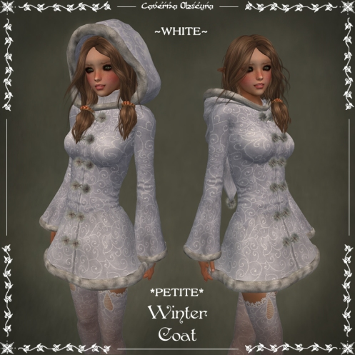 *PETITE* Winter Coat ~WHITE~ by Caverna Obscura