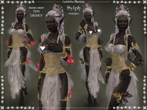 Sylph Silks ~WEBS~ by Caverna Obscura (rigged mesh)