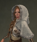 Winter Cape Mesh WHITE2