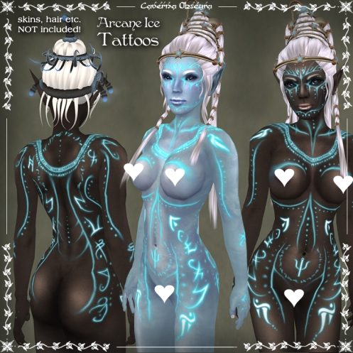 Arcane Ice Tattoos by Caverna Obscura