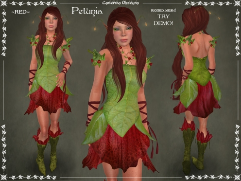 Petunia Outfit ~RED~ by Caverna Obscura
