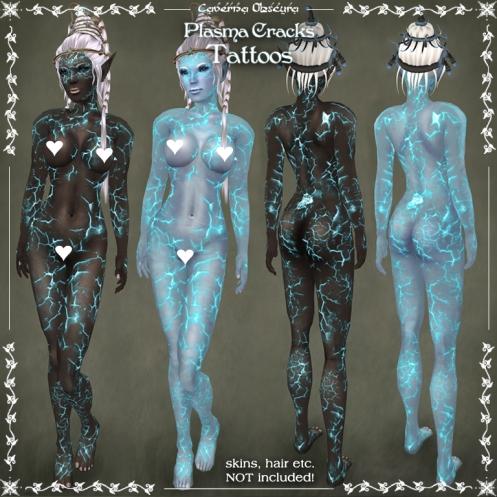 Plasma Cracks Tattoos by Caverna Obscura