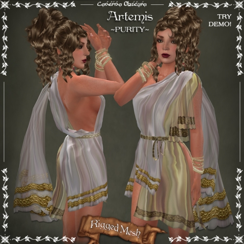 Artemis Tunic ~PURITY~by Caverna Obscura