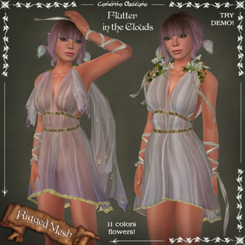 Flutter in the CLOUDS Dress by Caverna Obscura
