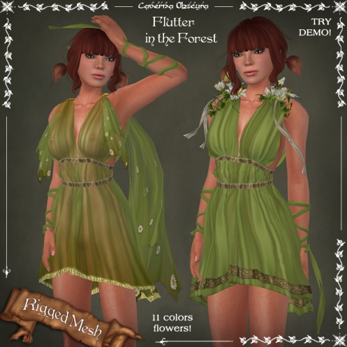 Flutter in the FOREST Dress by Caverna Obscura