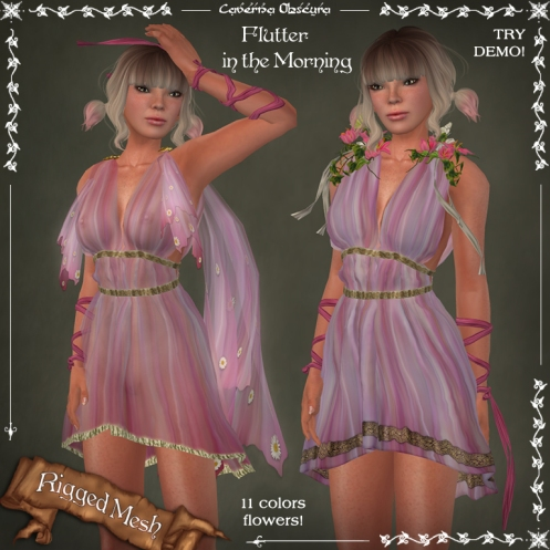 Flutter in the MORNING Dress by Caverna Obscura