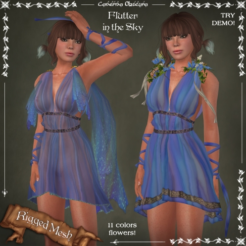 Flutter in the SKY Dress by Caverna Obscura