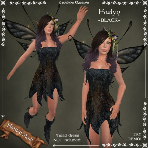 Faelyn Outfit ~BLACK~ by Caverna Obscura