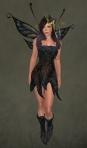 Faelyn Ragged Dress BLACK1