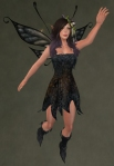 Faelyn Ragged Dress BLACK4