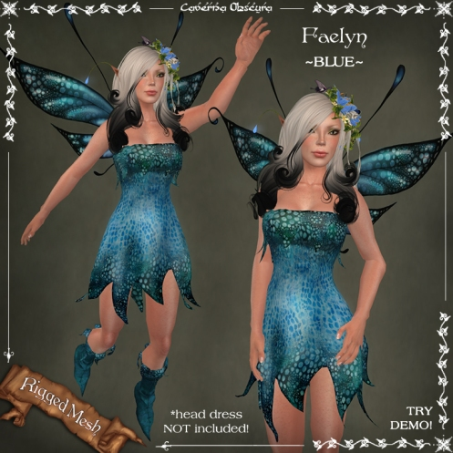 Faelyn Outfit ~BLUE~ by Caverna Obscura