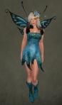 Faelyn Ragged Dress BLUE1