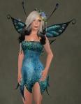 Faelyn Ragged Dress BLUE2