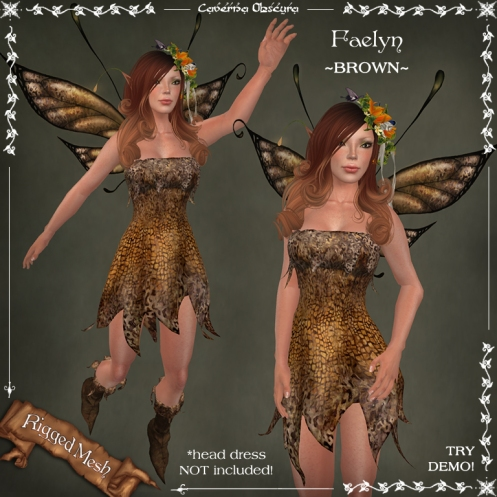 Faelyn Outfit ~BROWN~ by Caverna Obscura
