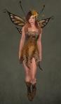 Faelyn Ragged Dress BROWN1