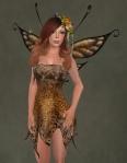 Faelyn Ragged Dress BROWN2