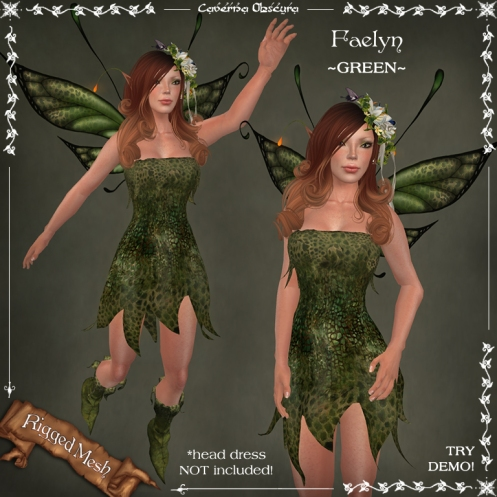 Faelyn Outfit ~GREEN~ by Caverna Obscura
