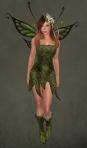 Faelyn Ragged Dress GREEN1