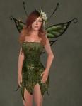 Faelyn Ragged Dress GREEN2