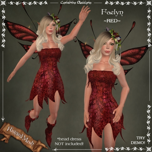Faelyn Outfit ~RED~ by Caverna Obscura