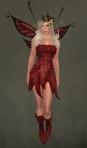 Faelyn Ragged Dress RED1