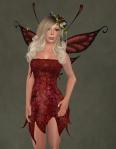 Faelyn Ragged Dress RED2