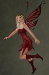 Faelyn Ragged Dress RED3