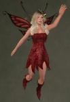 Faelyn Ragged Dress RED4