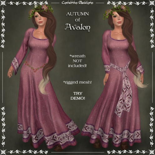 AUTUMN of Avalon Celtic Dress by Caverna Obscura
