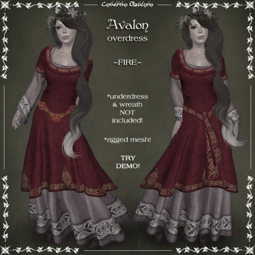 Avalon Overdress ~FIRE~ by Caverna Obscura
