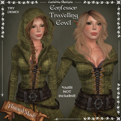 Confessor Traveling Cowl by Caverna Obscura