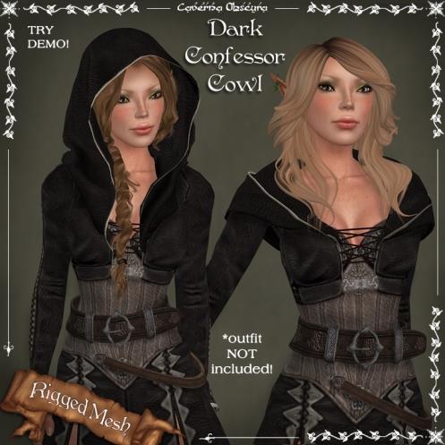 Dark Confessor Cowl by Caverna Obscura