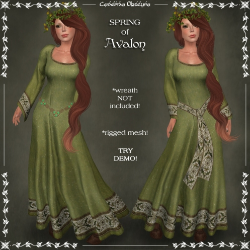 SPRING of Avalon Celtic Dress by Caverna Obscura