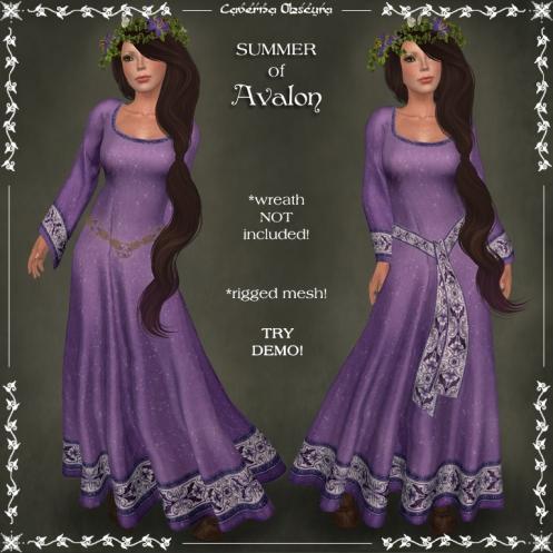 SUMMER of Avalon Celtic Dress by Caverna Obscura