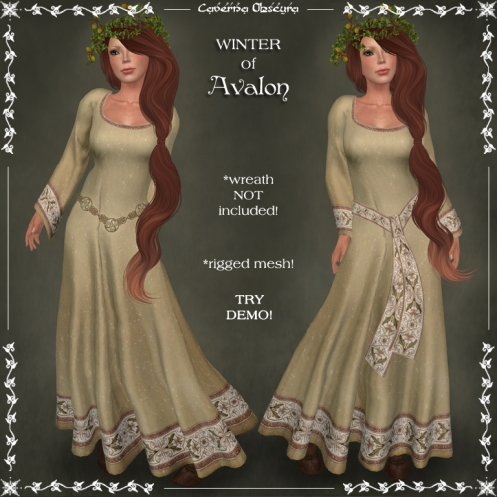 WINTER of Avalon Celtic Dress by Caverna Obscura