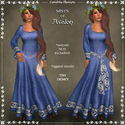 MISTS of Avalon Celtic Dress by Caverna Obscura