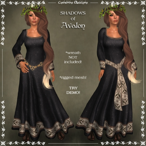 SHADOWS of Avalon Celtic Dress by Caverna Obscura