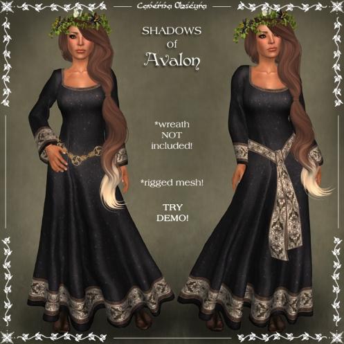 SHADOWS of Avalon Celtic Dress by Caverna Obscura