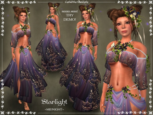 Starlight Silks ~MIDNIGHT~ by Caverna Obscura