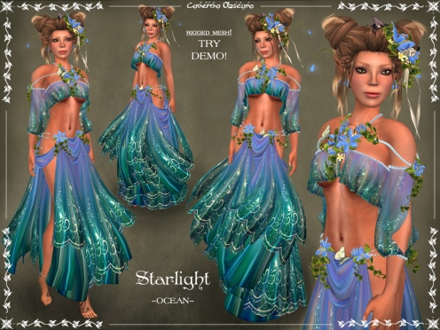 Starlight Silks ~OCEAN~ by Caverna Obscura