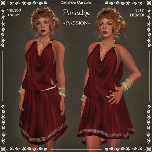Ariadne Tunic ~PASSION~ by Caverna Obscura