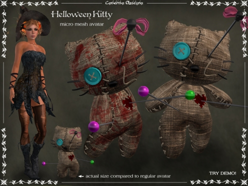 Helloween Kitty Avatar by Caverna Obscura