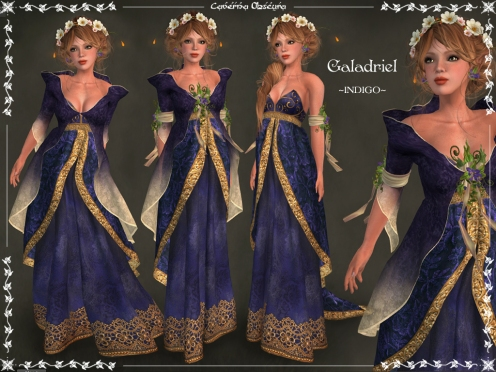 Galadriel Outfit ~INDIGO~ by Caverna Obscura