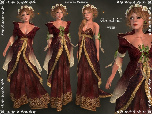 Galadriel Outfit ~WINE~ by Caverna Obscura