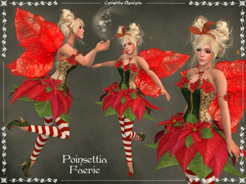 Poinsettia Faerie Outfit by Caverna Obscura