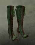 Christmas Carol Boots GREEN