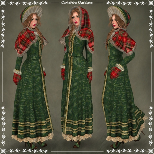Christmas Carol Outfit ~GREEN~ by Caverna Obscura