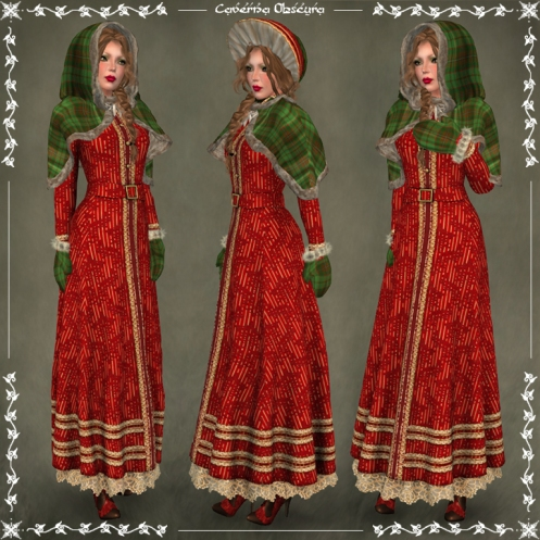 Christmas Carol Outfit ~RED~ by Caverna Obscura