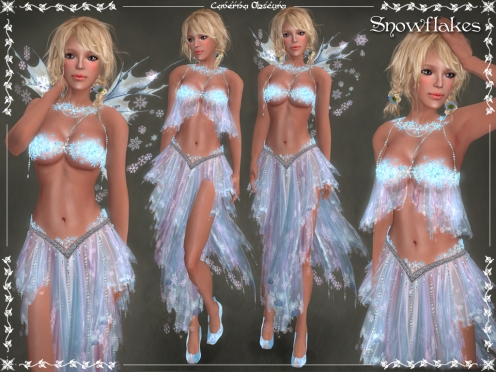 Snowflakes Outfit by Caverna Obscura