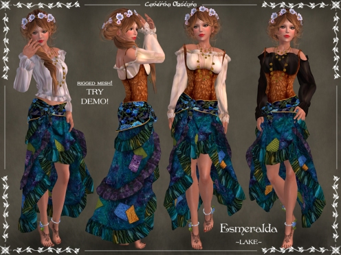 Gypsy Esmeralda Outfit ~LAKE~ by Caverna Obscura